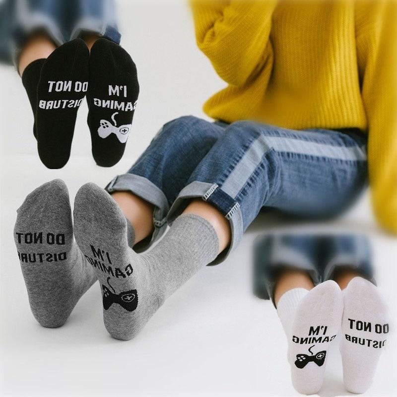 Men Fashion Socks Unisex 'Do Not Disturb I'm Great Gamer Gift Funny Ankle Socks Greative Socks Comfortable Strech Couple Sock