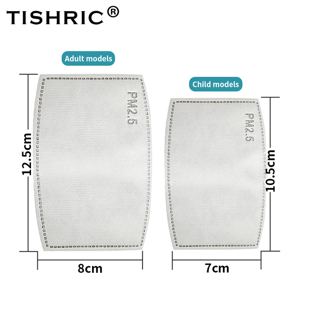 TISHRIC 5 Layers Activated Carbon Mask Filter Anti Droplet Respirator Face Mask Kids Adult Anti Dust/Haze Protection Disposable 4
