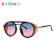 Ralferty Steampunk Sun Glasses Vintage Retro Shield Sunglasses