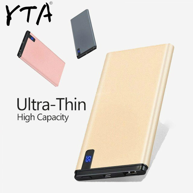Slim 30000mAh Power Bank Portable Ultra-thin Polymer Powerbank Battery Poverbank 30000mah With LED Light For Mobile Phone