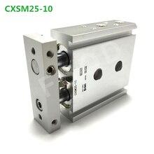 CXSM25 10 CXSM25 15 CXSM25 20 CXSM25 25 çift çubuk silindir temel tip pnömatik komponent hava araçları CXSM serisi