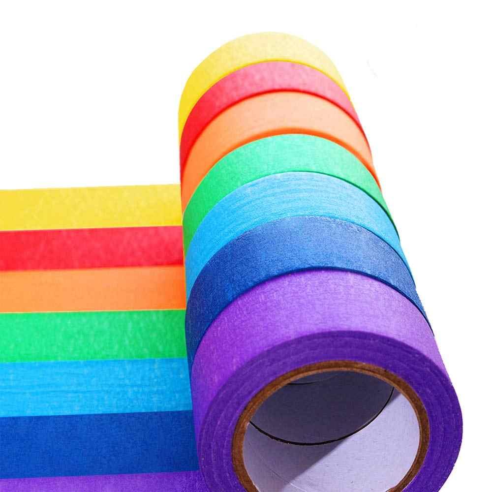 nieuwste ontwerp Britse beschikbaarheid hete producten 1Roll Colored Masking Tape Rolls Craft Paper Tape - Teacher Tape For Art  Lab Labeling Classroom Decorations & Teaching Supplies