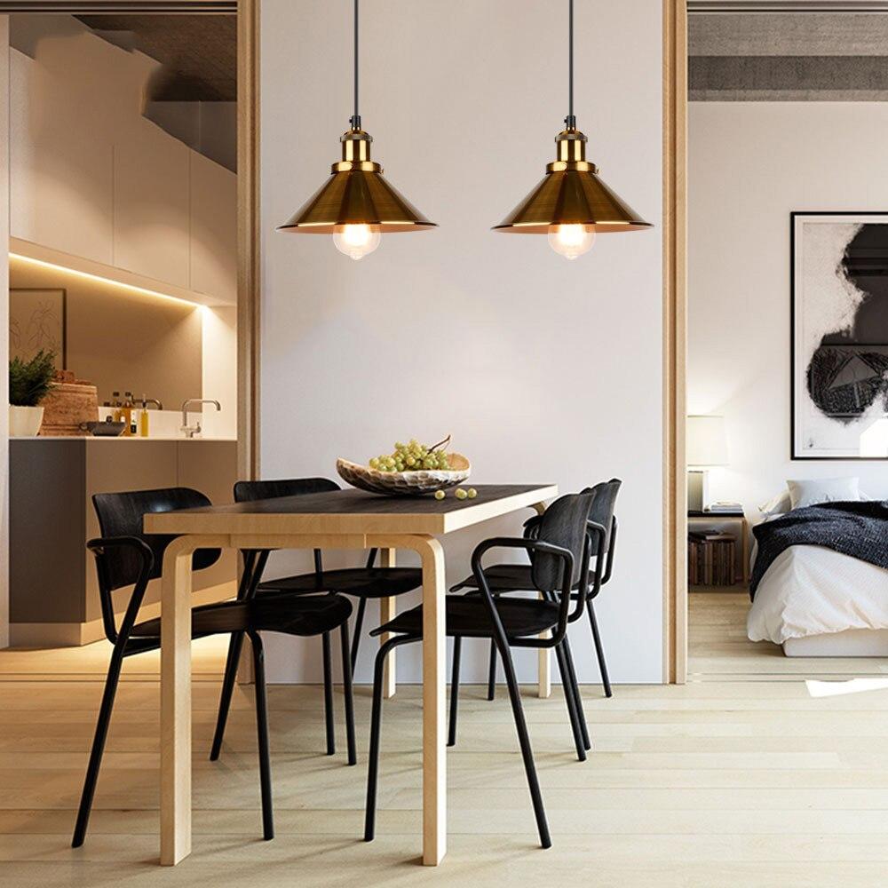 Image 4 - Industrial Pendant Lights Vintage pendant Lamp Hanging lamp modern pendant ceiling lamps LED restaurant Living room decorationPendant Lights   -