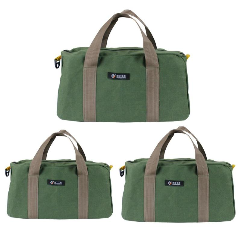 12/14/16inch Waterproof Canvas Storage Bag Tool Portable Toolkit Hardware Parts Storage Bags Organizer Pouch Bag Case