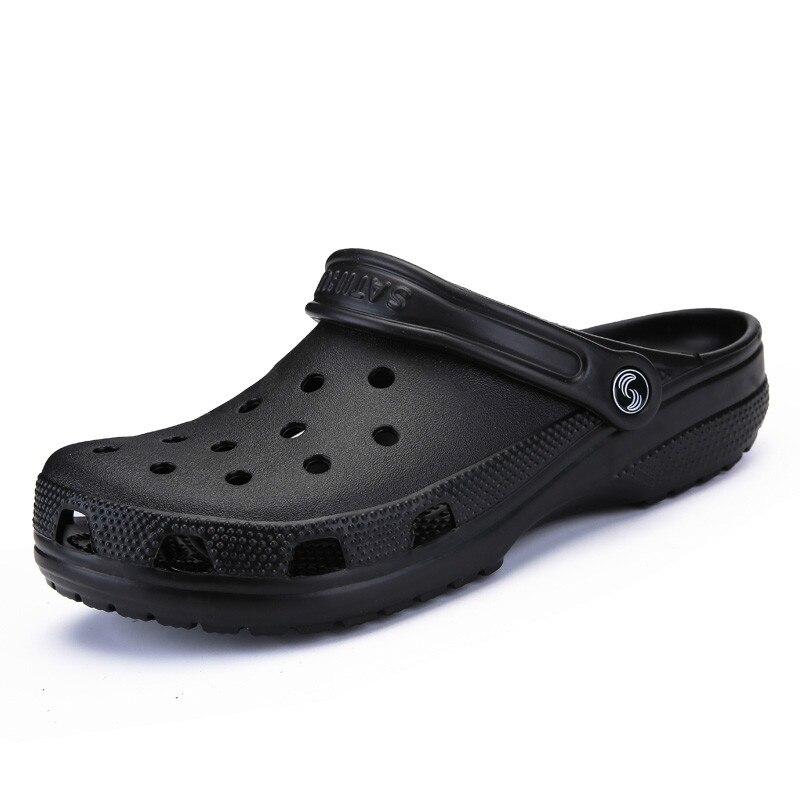 Dropshipping 2019 hommes sandales été pantoufles chaussures Croc mode plage sandales décontracté plat sans lacet tongs hommes chaussures creuses
