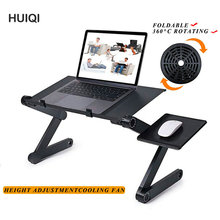 Folding Laptop Stand Bed Sofa Ergonomic Adjustable Aluminum Office Notebook Table Home Heightened Study Table Portable PC Desk