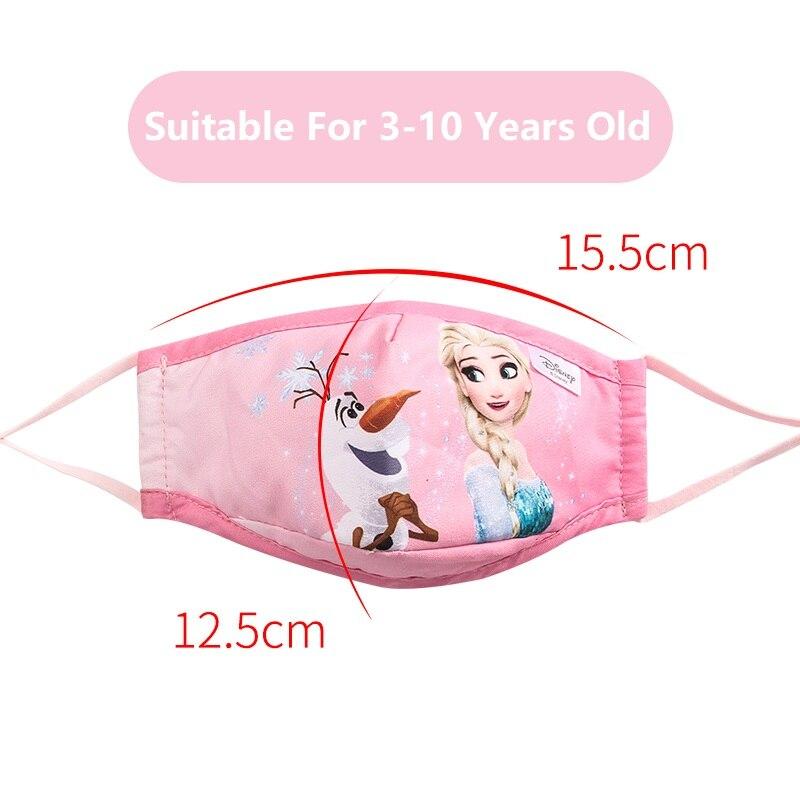 Novo!!!! Disney crianças máscaras de algodão lavável reutilizável crianças máscara facial congelado marvel spiderman criança máscara boca com filtro pm2.5 4
