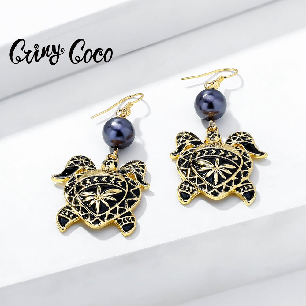 Hawaiian Vintage Turtle Fashion Woman Earrings 2020 Holiday Gifts Animal Statement Gold Color Hanging Earring Jewelry for Women