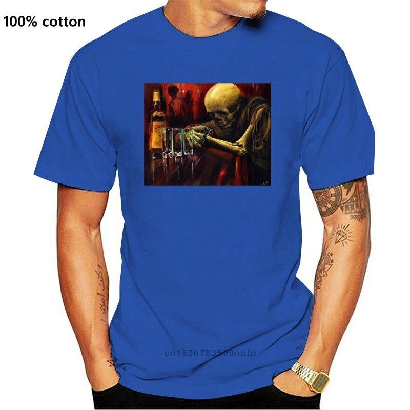 Угрюмой одежда Carlos Торрес Скелет бар татуировочная футболка M-5XL новая хлопковая Повседневная обувь; Cезон