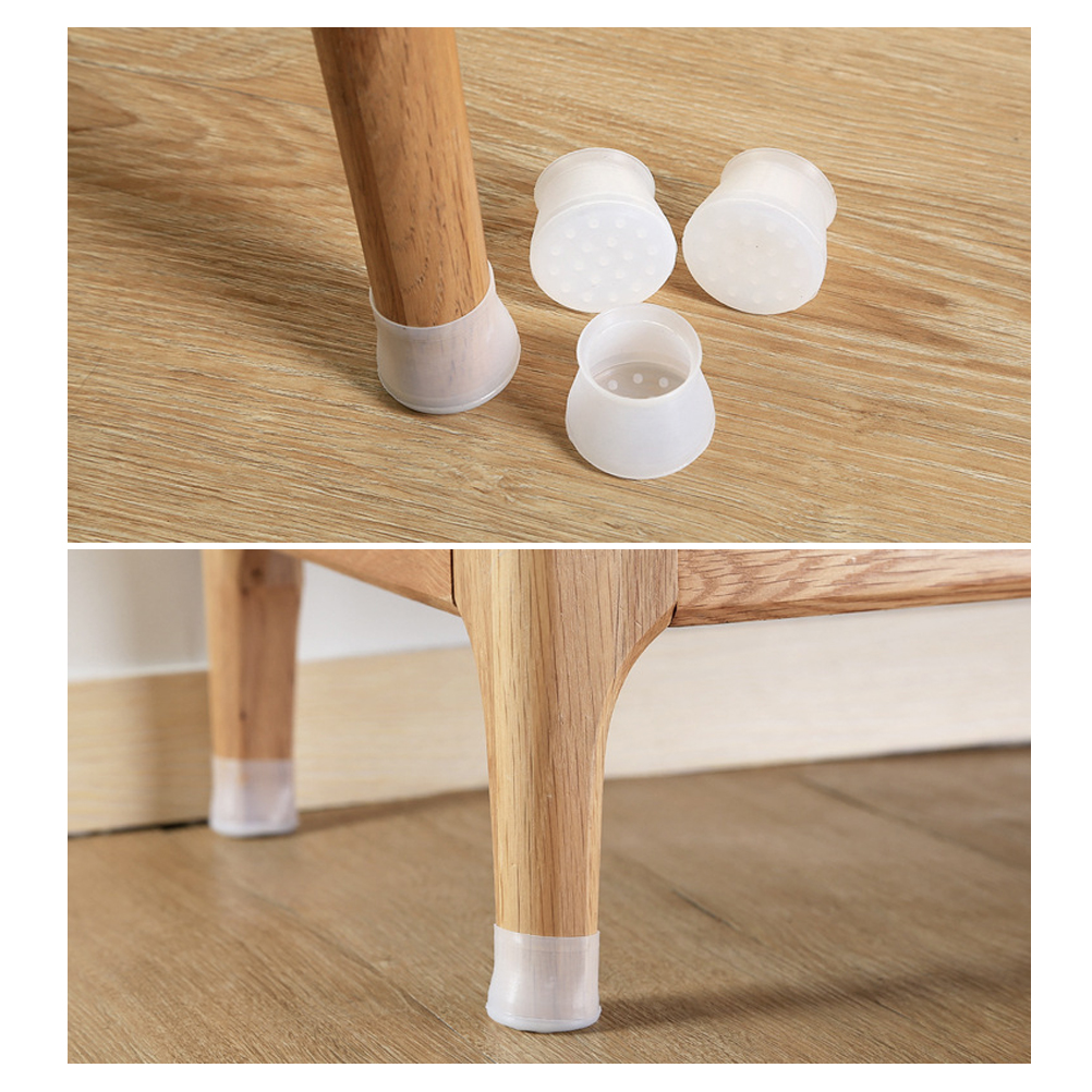 Chair Leg Caps Silicone Floor Protector Round Furniture Table Feet Cover Prevents Scratches And Noise Without Leaving Marks