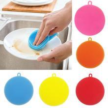 Силиконовая круглая чаша, сковорода горшок Чистка стирка щеточка для очищения домашний кухонный инструмент Pad