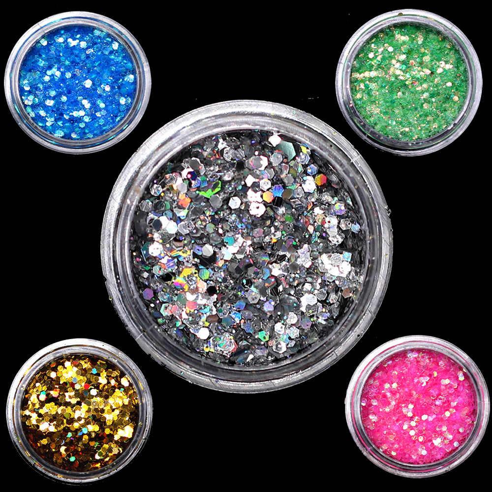 1Pc 12 Kleur DIY Mode Pailletten Nail Art Stof Borstel Buffer Spons Zand UV Gel Polish Set Acryl manicure Pedicure Tool