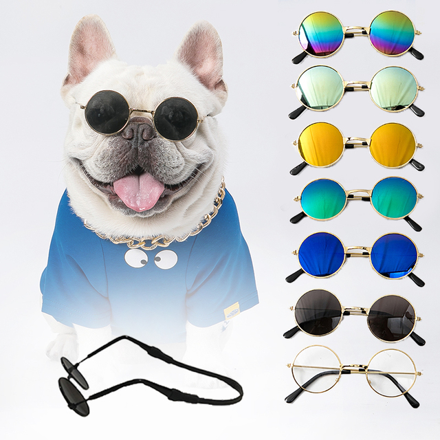 For Dogs Cats Pet Accessories Glasses Sunglasses Harness Accessory Petty Products Decorations Lenses Gadgets Goods With Straps 1