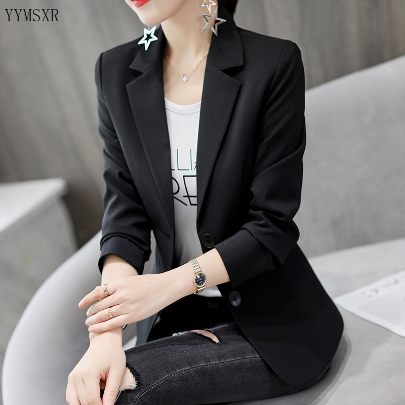 Casual office women's blazer jacket coat New fall slim single-breasted women's small suit Temperament Professional Jacket Female