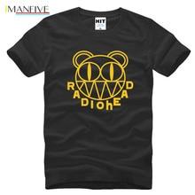 IMANFIVE Summer Rock Radiohead T Shirt Men Short Sleeve Cotton Punk Alternative Logo T-shirt Tops Tee