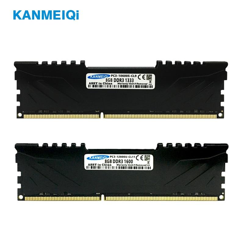 KANMEIQi DDR3 2GB/4GB/8GB 1333mhz/1600MHz Desktop RAM Memory 3