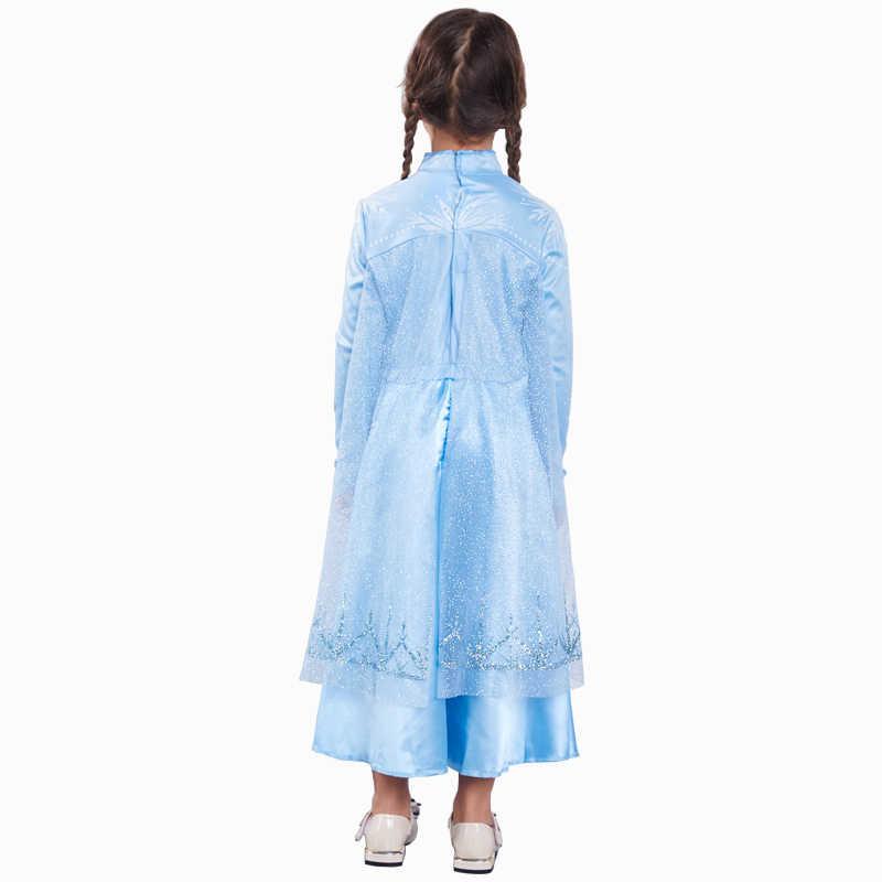 Nuove Ragazze Elsa Vestito da Neve Queen Costumi Cosplay per I Bambini Del Vestito Della Principessa Disfraz Carnaval Vestido De Festa Infantil Congelados
