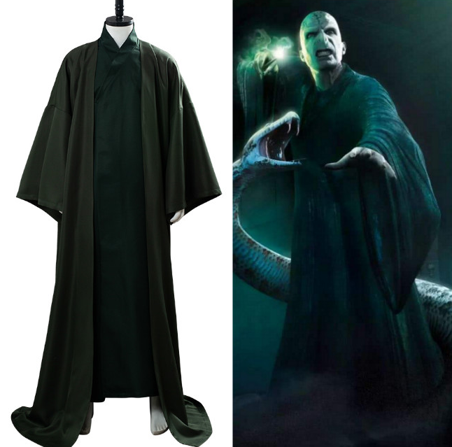 Lord Voldemort Cosplay Costume Tom Marvolo Riddle Cosplay Evil Wizard Robe Uniform Adult Halloween Costume Carnival Clothes