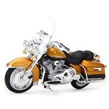 цена на Maisto 1:18 1999 FLHR Road King Diecast Alloy Motorcycle Model Toy