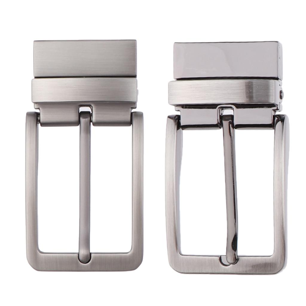 Men Reversible Metal Alloy Belt Buckles Replacement Rectangular Pin Buckles