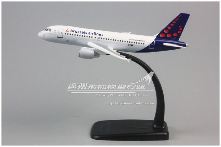 Brussels Airlines Brussels Airbus A319 1: 200 Assembled Plastic Aircraft Model 17cm For Kids Adult Xmas Birthday Gift
