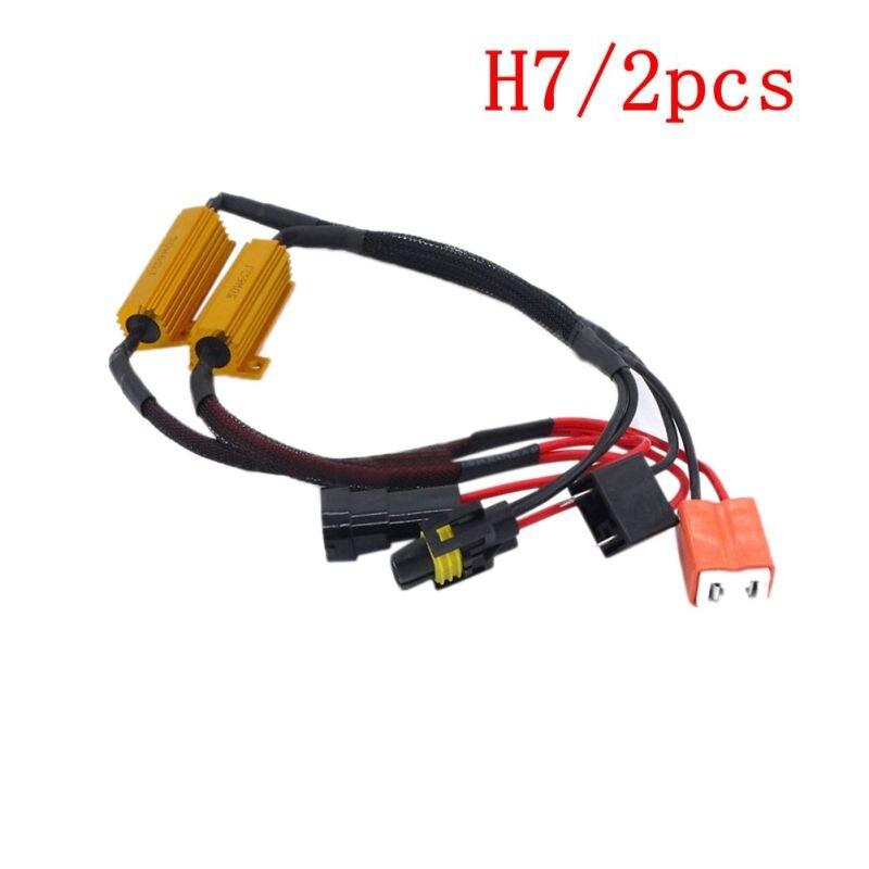Drop Shipping 2Pcs 50W H7/9006/HB4 Headlight Load Resistor LED Canbus Car Fog Lamps Decoder Error Warning Resistance
