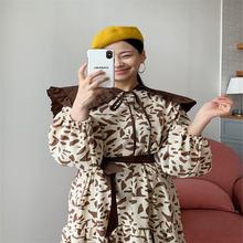 Платье женское с леопардовым принтом винтажное прямое платье