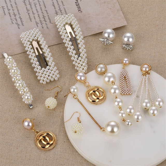 Big Simulated Pearl Earrings 2