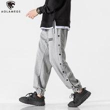 Aolamegs мужские спортивные брюки повседневные однотонные осенние