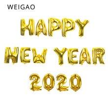 купить WEIGAO 16inch New Year 2020 Number Foil Balloons Happy New Year Eve Party Decor Digit Air Balloon Christmas Decorations Navidad по цене 62.53 рублей