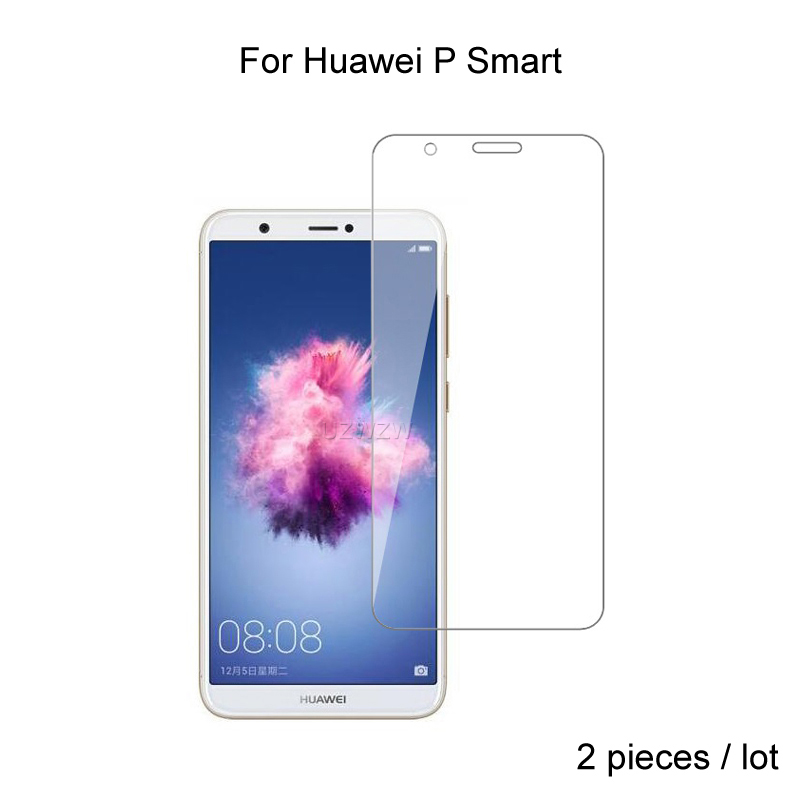 2pcs For Huawei P Smart 2018 Premium 2.5D 0.26mm Tempered Glass Screen Protector For Huawei P Smart Protective Glass