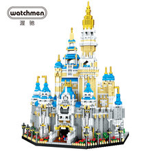 3d model building blocks architecture mini diamond bricks castle