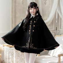 Coat Loli-Top Dovetail-Cape Anime Japanese Girl Night Cloak Cool Thickened Embroidered