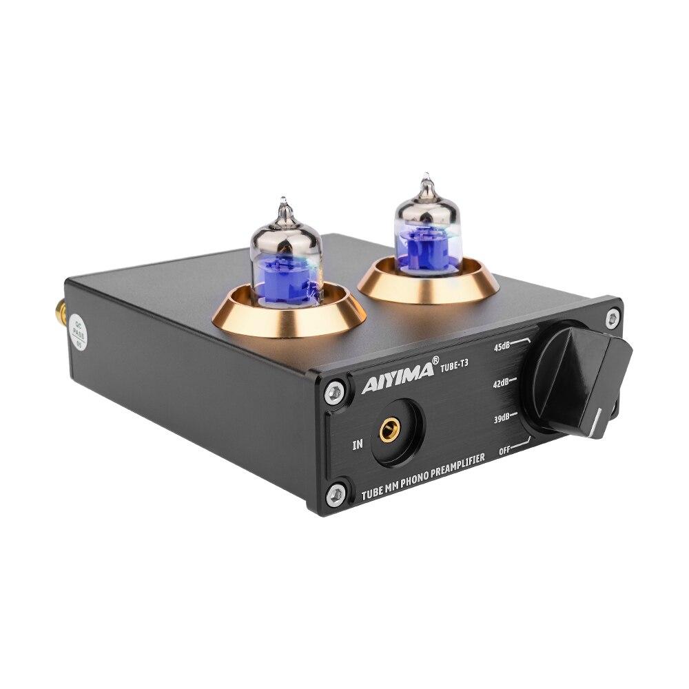 AIYIMA 6J2 Tube à vide MM Phono platine vinyle préamplificateur HiFi stéréo phonographe préampli amplificateur vinyle lecteur de disque pour la maison bricolage