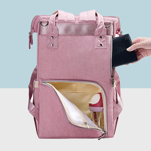 Image 5 - Sunveno Fashion Diaper Bag Backpack Quilted Large Mum Maternity Nursing Bag Travel Backpack Stroller Baby Bag Nappy Baby Care