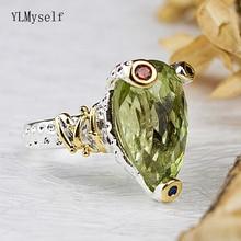 Cute frog design Ring Lt Green Olivine zirconia Jewellery Beautiful New Look Jewelry Woman rings