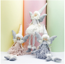 New Christmas Spotted Fringe Skirt Angel Doll Cute Long Feet Gift Tree Decoration Ornaments