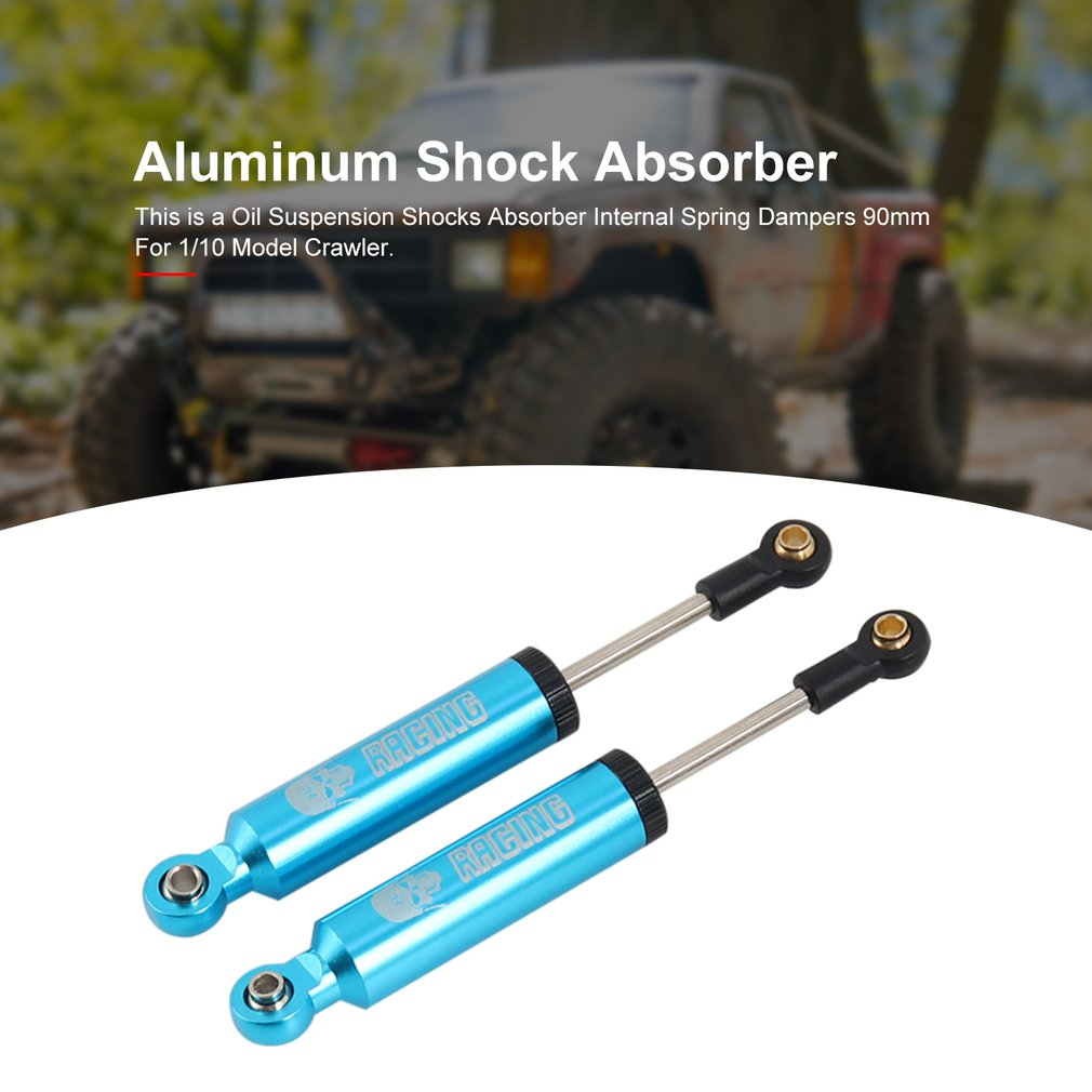 Parts /& Accessories 2Pieces Aluminum Oil Suspension Shocks Absorber Internal Spring Dampers for 1//10 Model Crawler Model Car Shock Absorber Color: Light Yellow