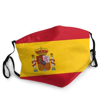 Flag Of Spain Unisex Non-Disposable Mouth Face Mask Dust Protection Cover Respirator