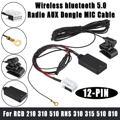 Автомобильный Радио беспроводной bluetooth AUX линия громкой связи кабель AUX-IN аудио адаптер для VW для Skoda RCD 210 310 510 RNS 310 315 510 810