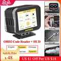 Auto Motor Code Reader Hud auf-board Computer Obd2 Head Up Display 2 IN 1 Multi-funktion Diagnose volle OBDII Pk Autool X60