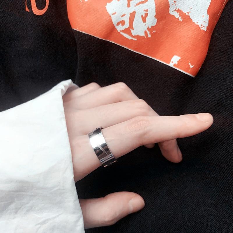 Прилив бренд Ins Простой чистый красный битник для уличных танцев уличного спортивной стрельбы весы с крючком кольцо пара Для мужчин и Для же...