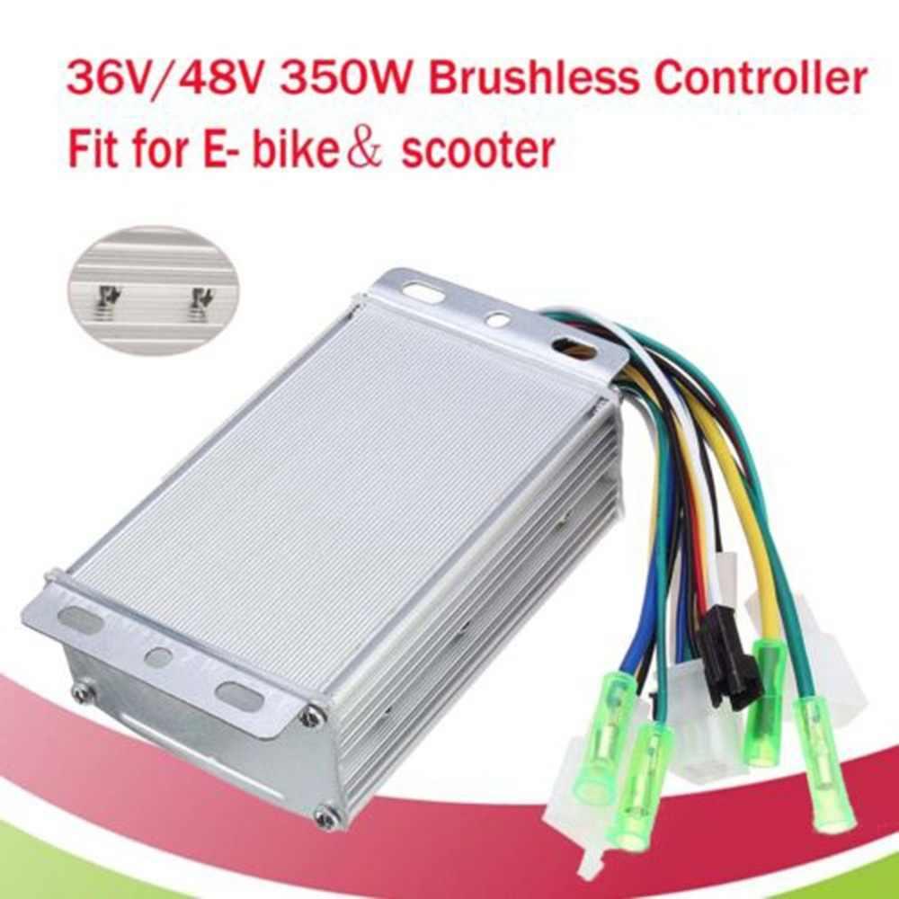Cepillo de diseño a prueba de agua de 350W, 36V/48V, regulador de velocidad para motores de motos eléctricas, controlador de bicicletas y triciclo