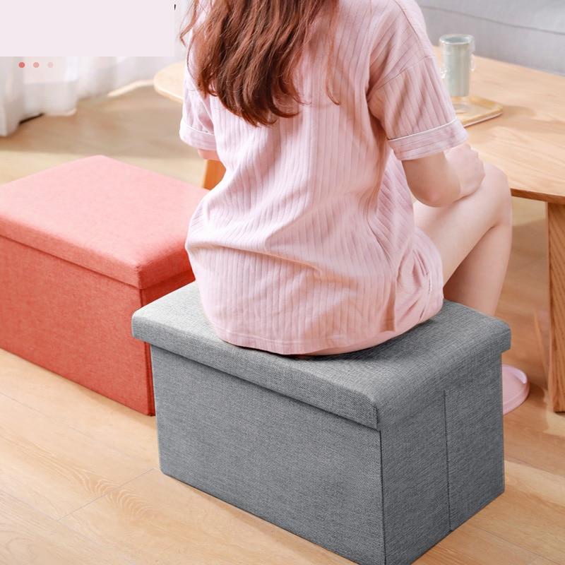 Multi-function Storage Box Sofa Comfortable Chair Sofa StoolS Ottomans Pouf Storage Poef Foot Stool Multicolor Furniture 25/47L