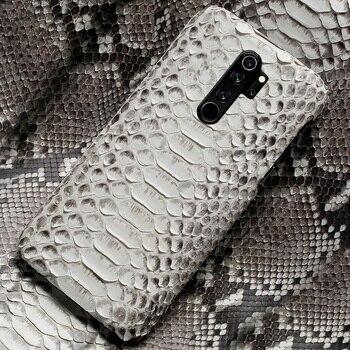 Genuine Python Leather phone case for Xiaomi Redmi Note 8 Pro Note 9 Pro 9S Note 7 8T 8 Cover For Mi 10 Pro 9 Lite 9T Pro 8 A3