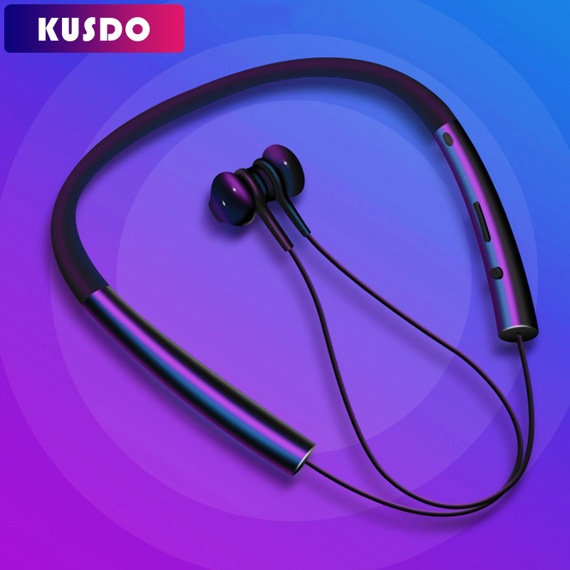 US $18.99 70% OFF|KUSDO Bluetooth Earphone Wireless Magnetic Neckband Earbuds Handsfree Sport Stereo Earpieces For Samsung Xiaomi With MIC|Phone