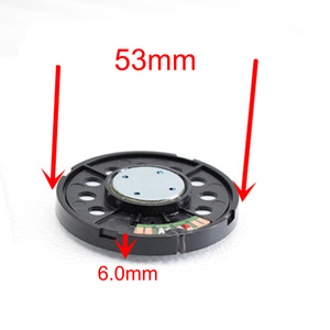 Image 2 - 53MM 32 Ohm HiFi Headphone Driver unit with Metal Cover 3 Way Balanced Clear Speakers 120dB