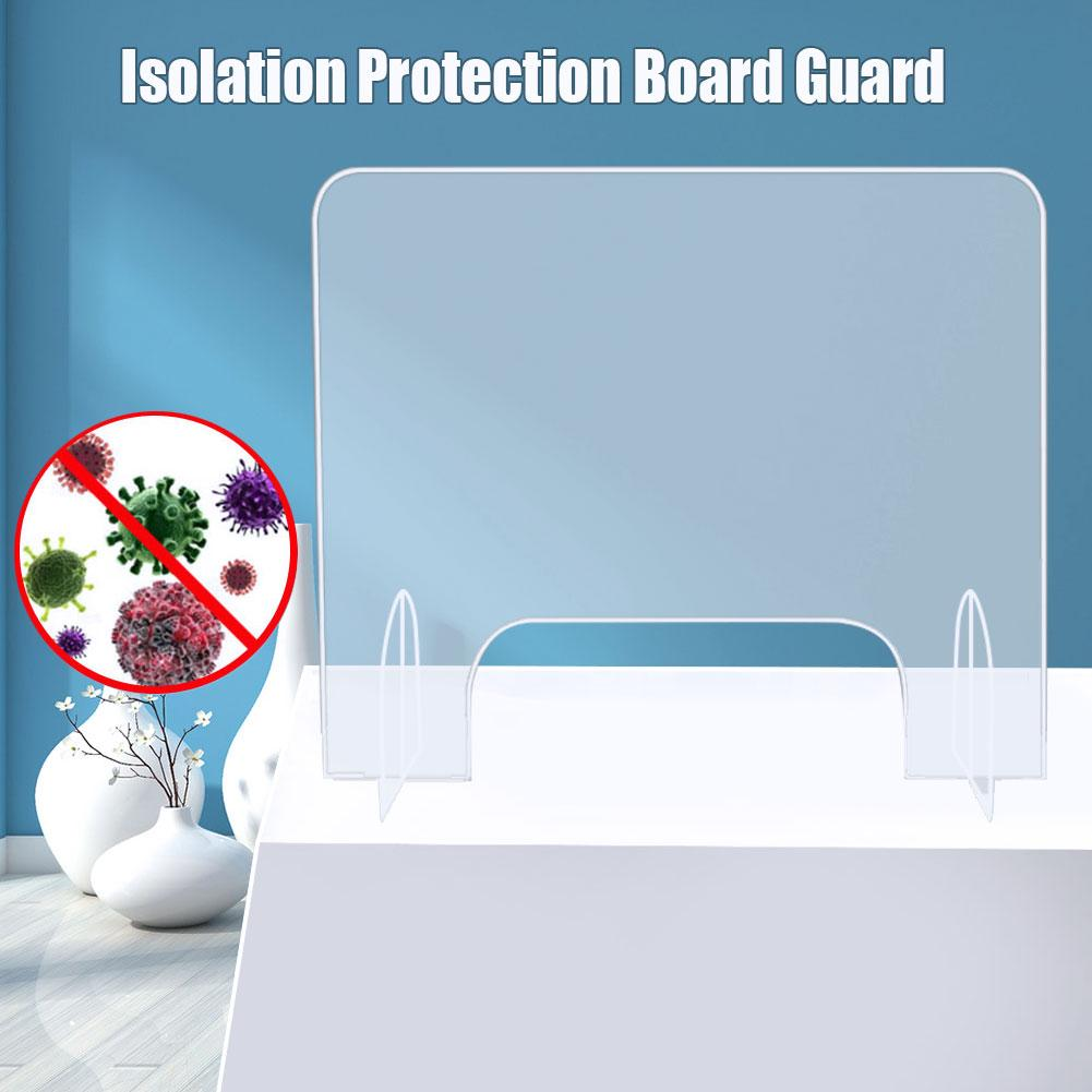 Acrylic Shield Sneeze Guard Transparent Isolation Protection Reception Side Sale Counter Board Guard Height Protection Screens