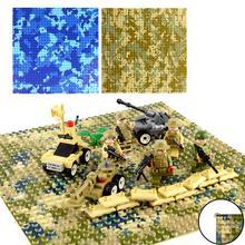 1 шт. 32x32 маленькие точки морской пляж Базовая пластина Совместимость Legoings город блоки игрушка камуфляж морской остров Строительная пластина для строительных блоков