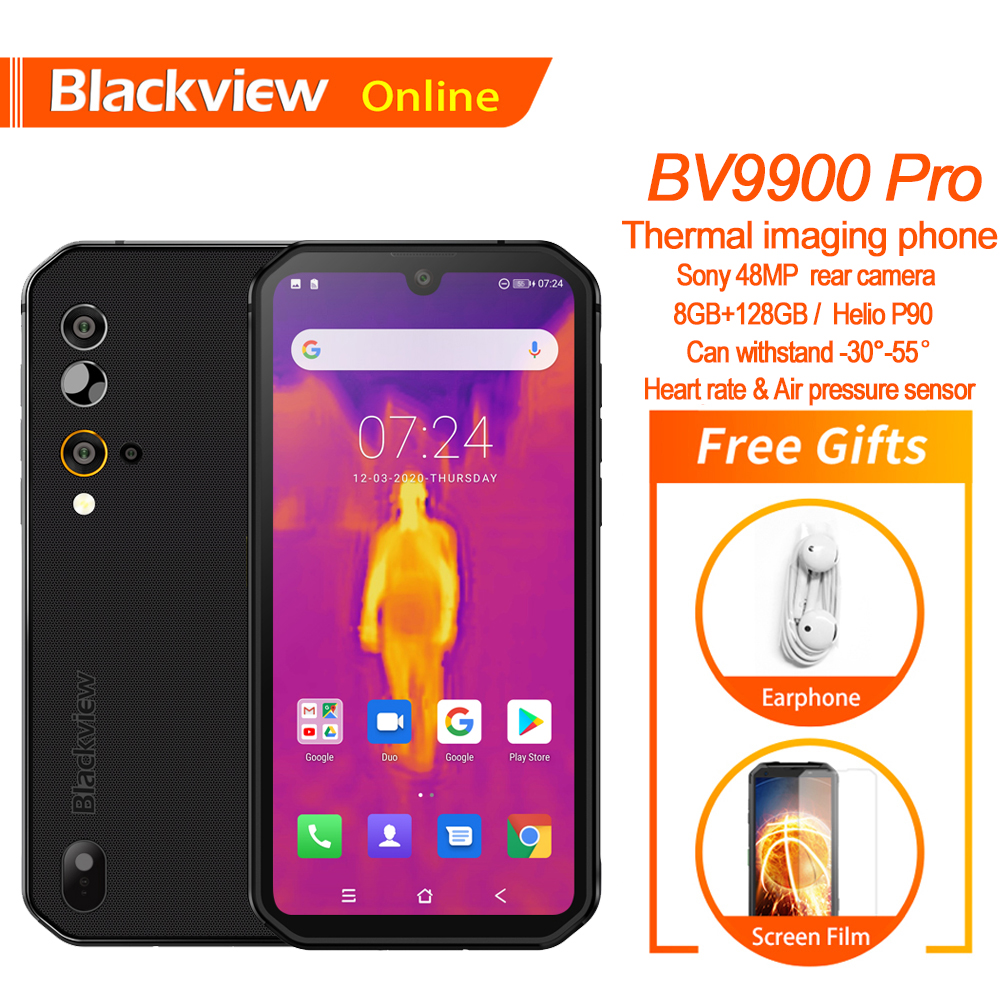 Blackview BV9900 Pro Fastest Thermal imaging Smartphone Helio P90 Android 9.0 8GB+128GB 48MP Waterproof Rugged Mobile Phone(China)